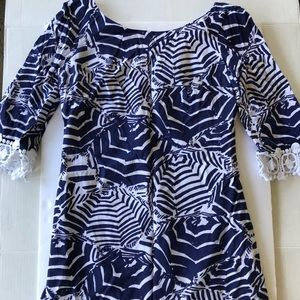 Lilly Pulitzer Harbour Tunic Oh Cabana Boy size S